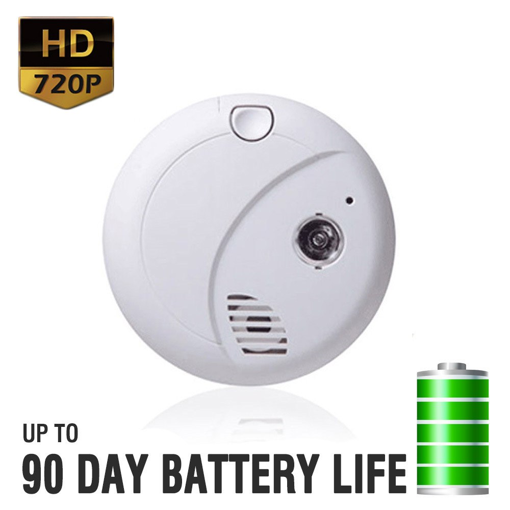 HD Motion Activated Smoke Detector Spy Camera