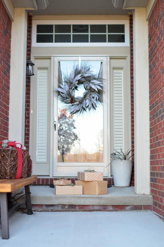 packages at the front door