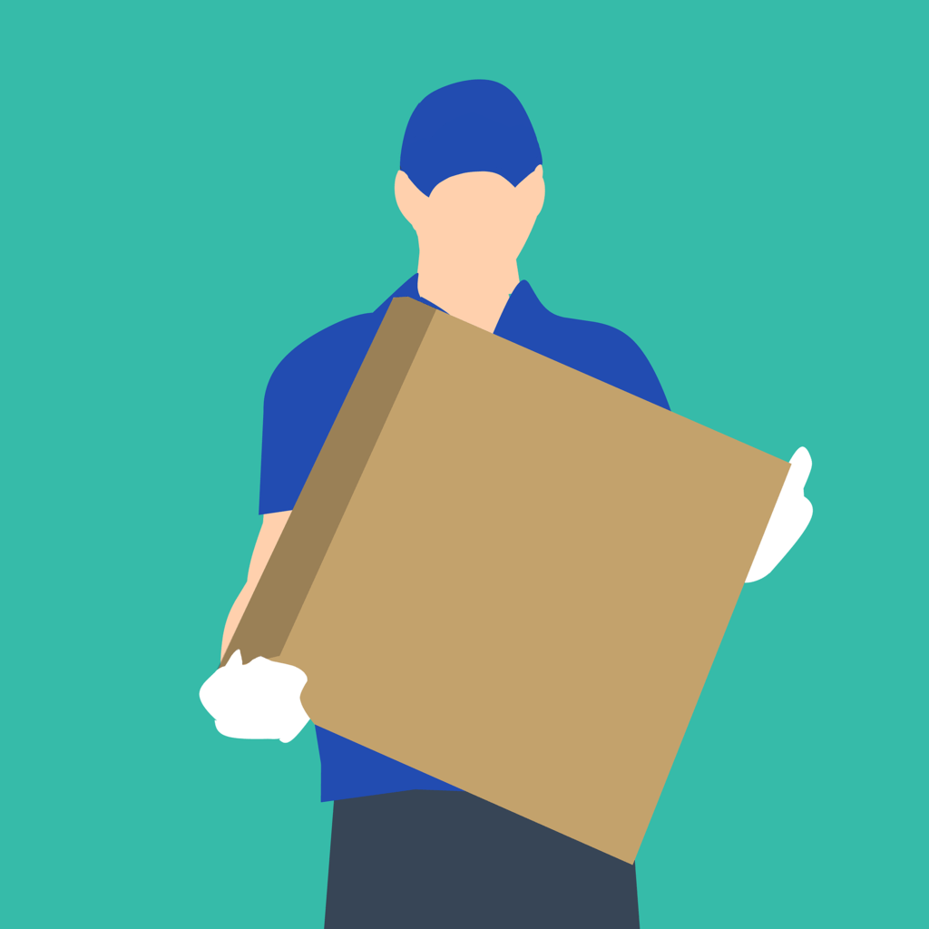 person delivering package